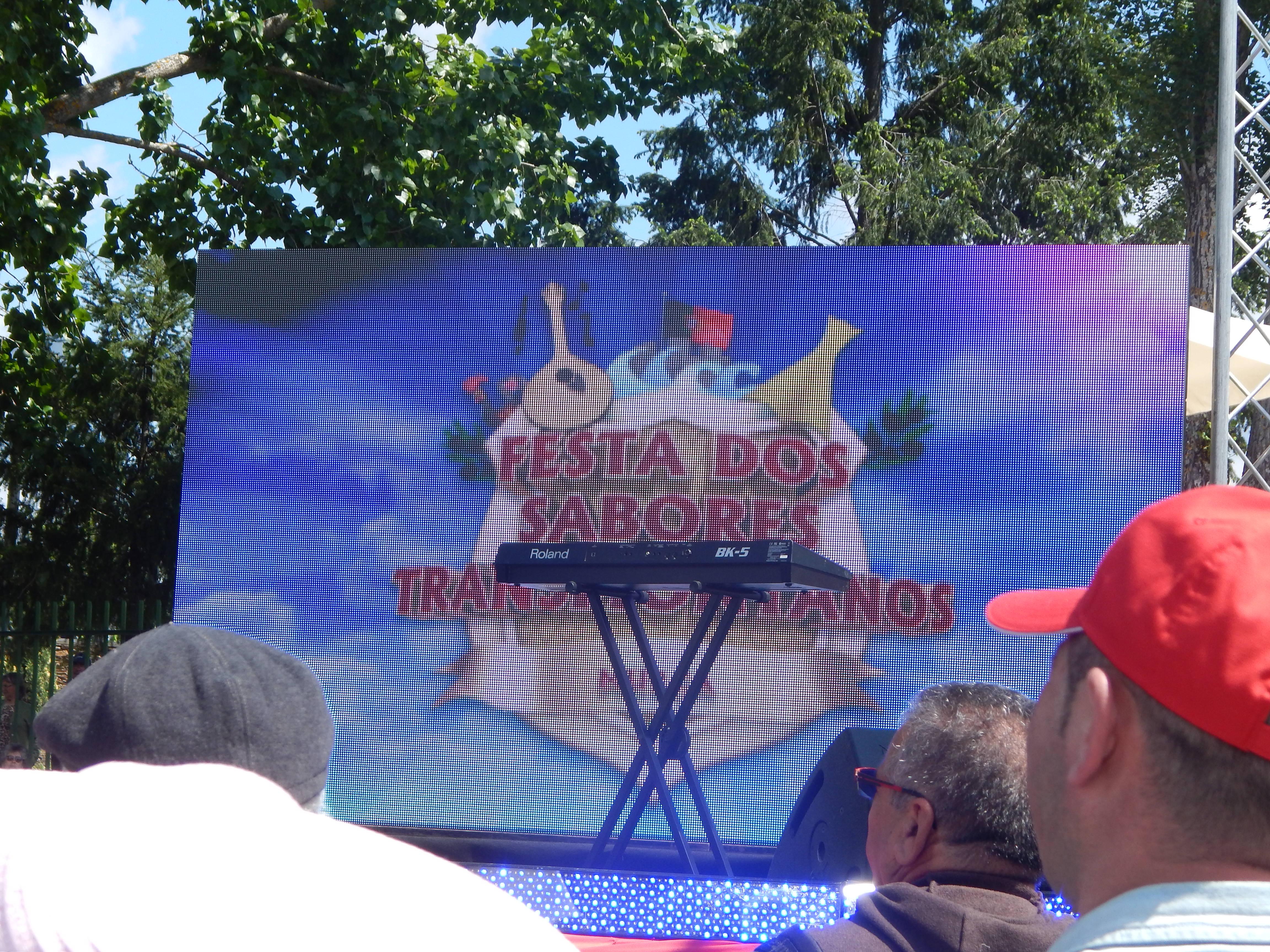 Fiesta en la tvi (televisión) en directo para acabar la Feria