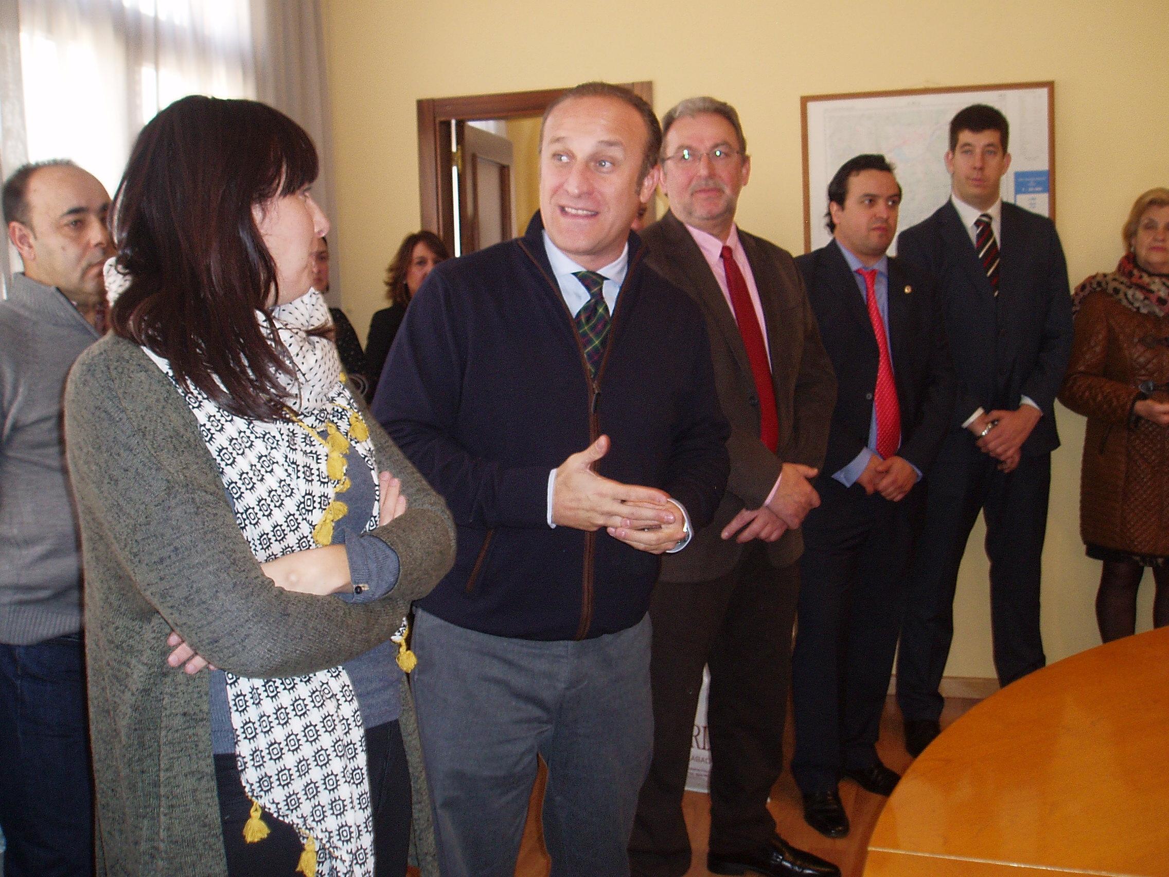 Albet, alcalde Almendralejo y Gudiña