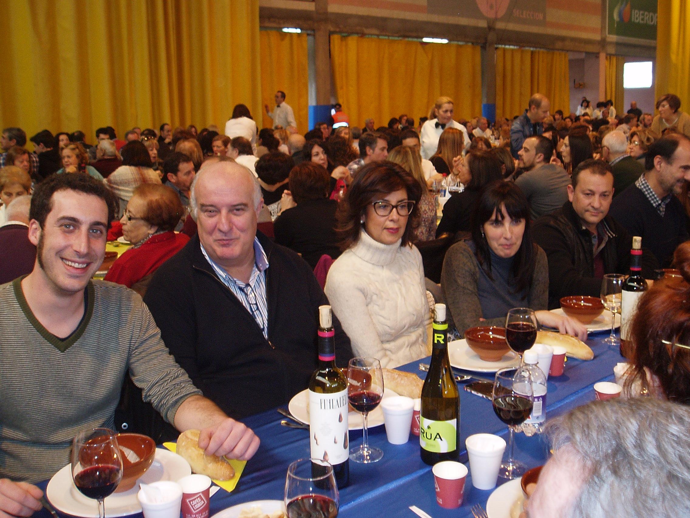 Avelino García en la mesa de la Corporación en la fiesta