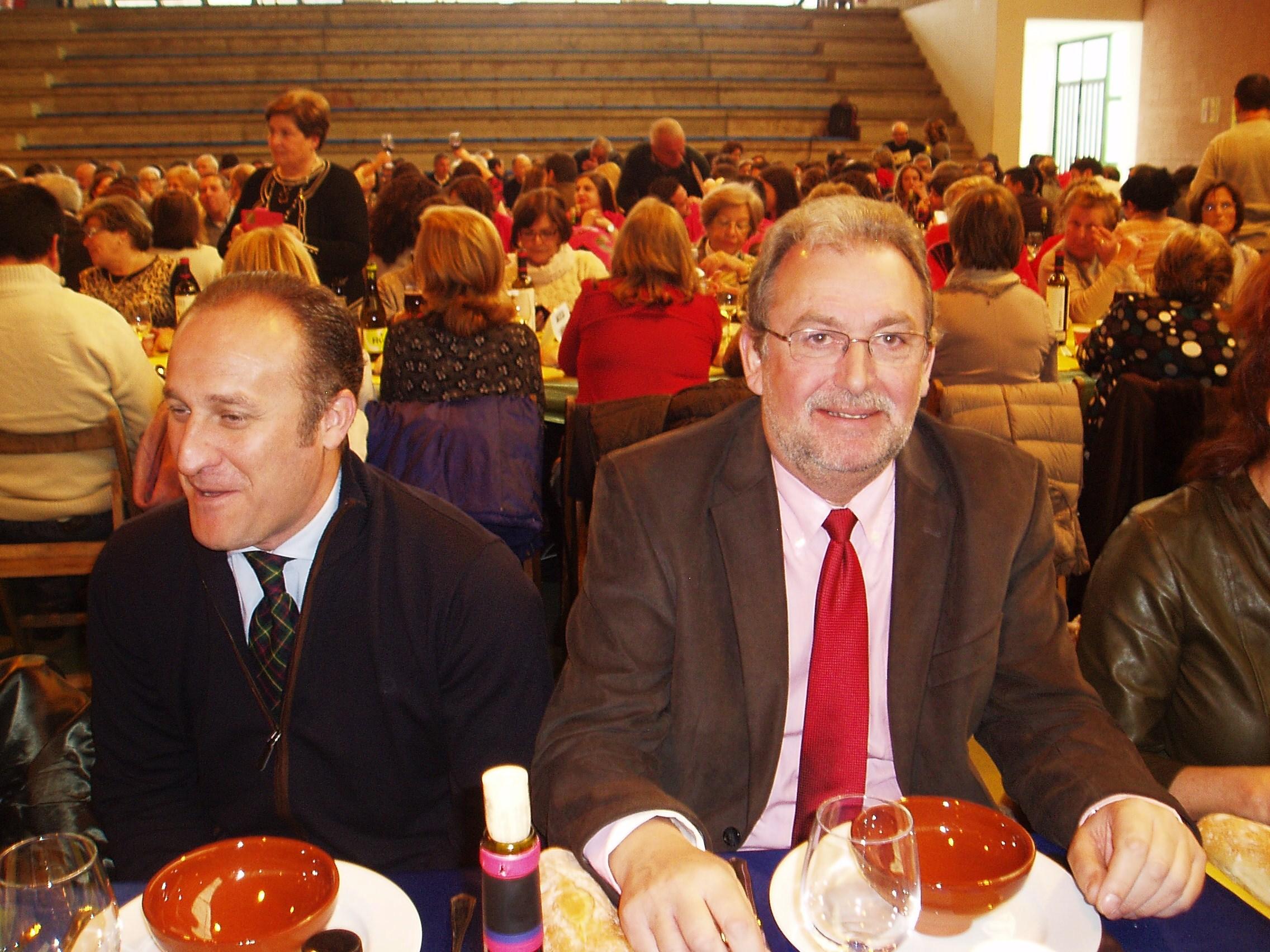 Luis gudiña y Pepe García (alcalde de Almendralejo)