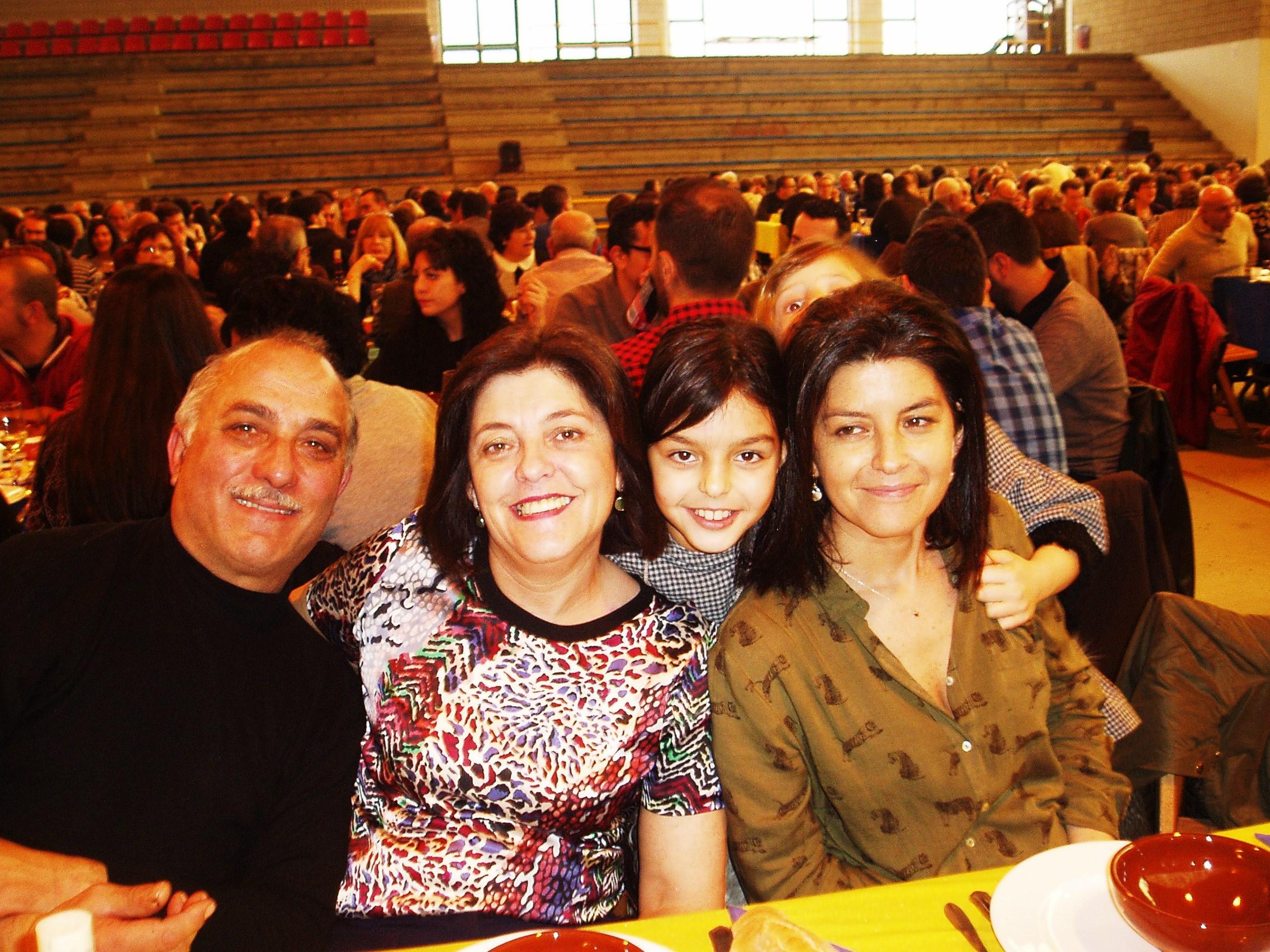 Una familia en la fiesta