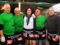 Los hombres de la Asociación de Veciños de Vilela que sirvieron la comida