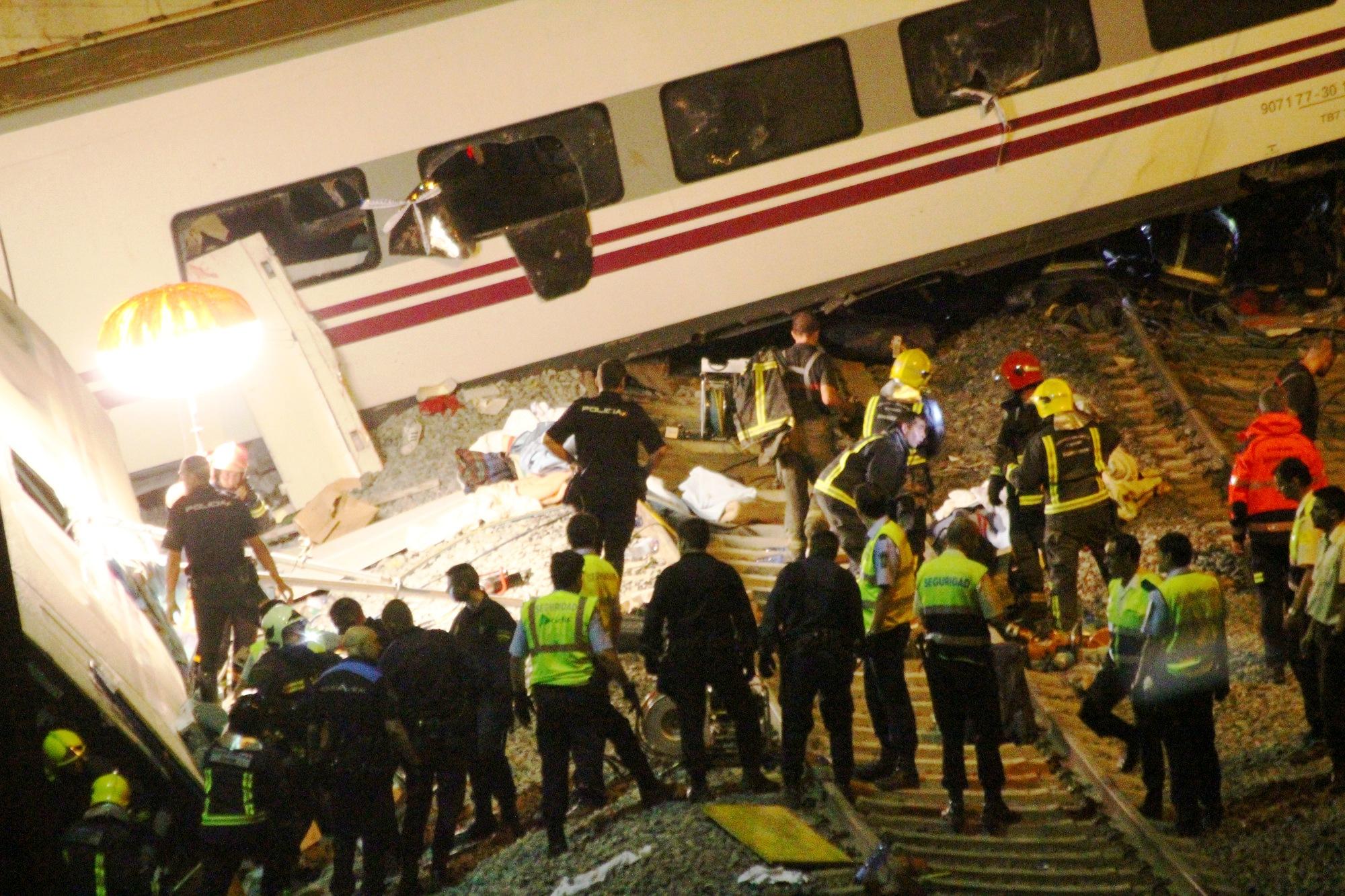 Accidente de tren en Angrois