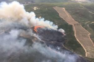 Valdeorras pierde otras 65 hectáreas por el fuego
