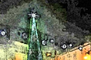 Viana do Bolo luce ya un árbol navideño de ocho metros