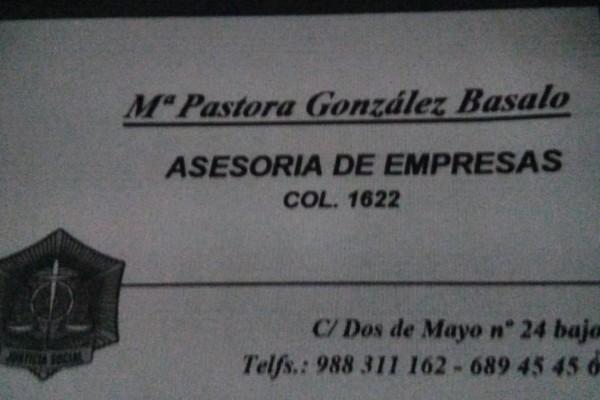 María Pastora González Basalo. Asesoría de Empresas