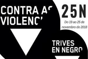 Todas y todos en negro, contra la violencia en Trives
