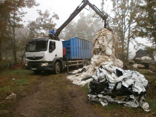 Retiradas nueve toneladas de plásticos agrícolas en Sober