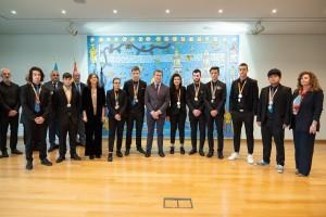 Recibimiento al alumnado gallego premiado en las olimpiadas nacionales de Formación Profesional, las Spainskills