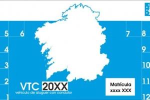 Los VTC autorizados en Galicia deben identificarse con el distintivo obligatoriodesde hoy