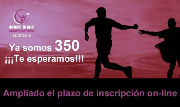 La IV Sport Night de Camponaraya ya cuenta con 350 personas inscritas y amplía el plazo de inscripción on-line