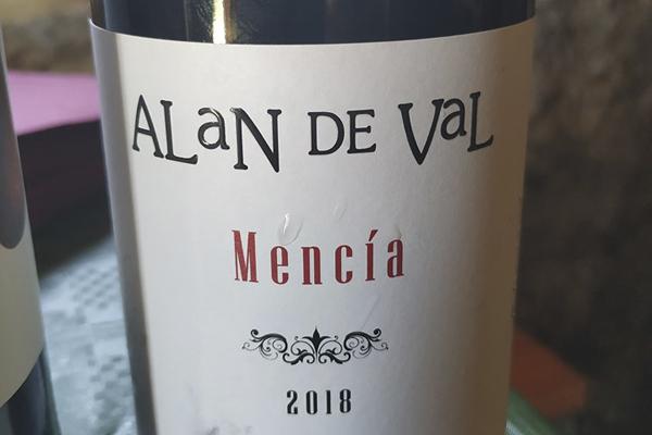 Cata del vino Alan de Val Mencía 2018