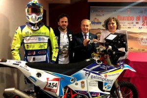 Monforte se vuelca con Eduardo Iglesias ante su reto del Dakar