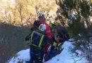 Rescatada entre la nieve de la Cascada del Gualtón