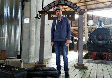 Éxito de la primera sesión de la visita teatralizada en el Museo del Ferrocarril de Ponferrada, 'El tiempo roto por un sueño'